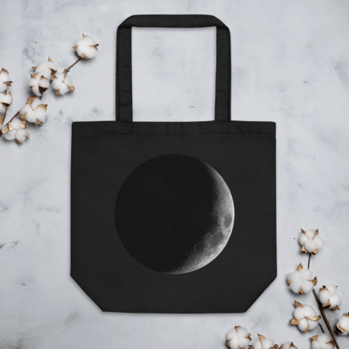 Full Moon Eco Tote Bag Size Lifestyle