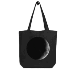 Full Moon Eco Tote Bag Size Mockup