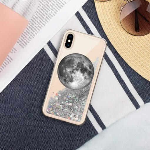 Full Moon Liquid Glitter iPhone Case 2