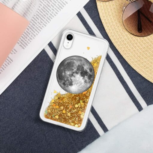 Full Moon Liquid Glitter iPhone Case 5