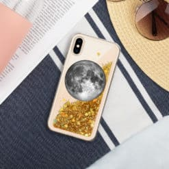 Full Moon Liquid Glitter iPhone Case 9