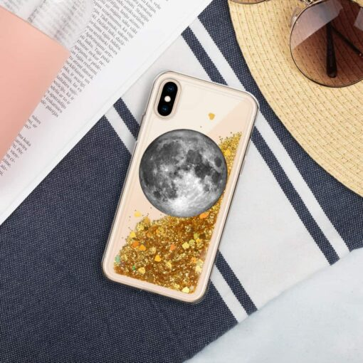 Full Moon Liquid Glitter iPhone Case 4