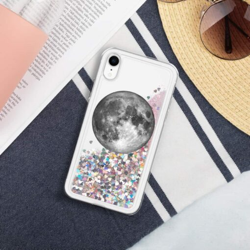 Full Moon Liquid Glitter iPhone Case 6