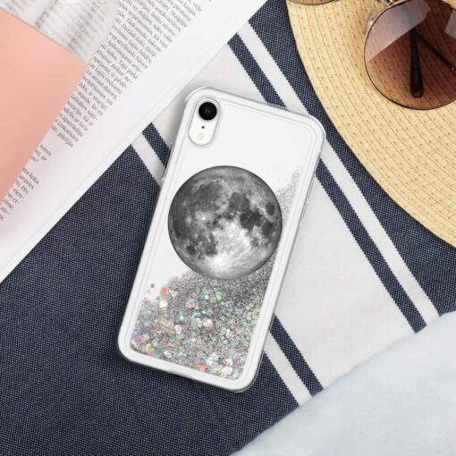 Full Moon Liquid Glitter iPhone Case 3