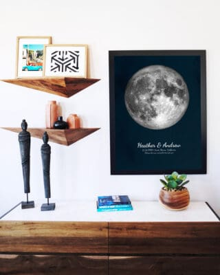 Custom Wedding Moon Phase Poster