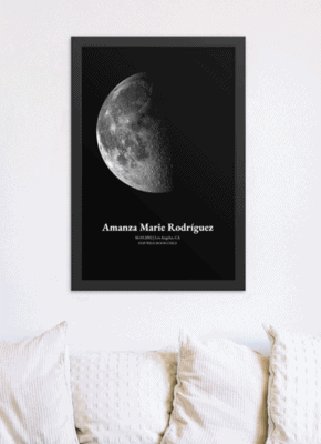 Birthday Moon Phase Poster Print - The Moon Joy