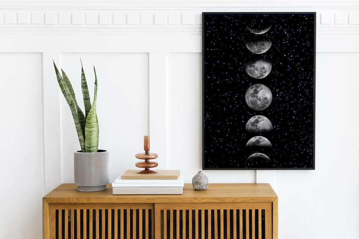 Moon Wall Art | Moon Print, Phases of the Moon, Moon Wall Art, Moon Phases Poster, Lunar phases, Moon Phase Pictures, Moon Poster